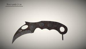 3D kerambite knife