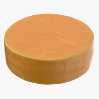 cheddar cheese wheel 3D