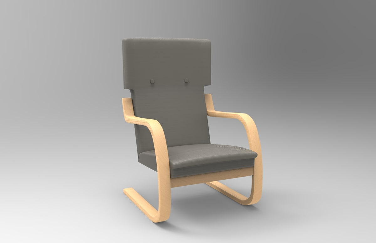 401 chair alvar aalto 3D model