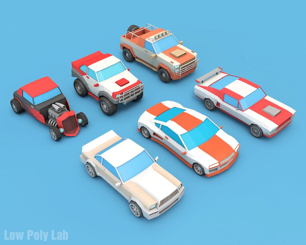 3D cars racing cartoon pack