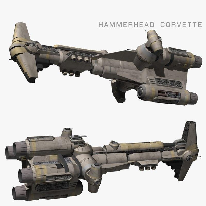hammerhead corvette 3D model