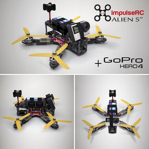 3D impulse alien racing drone