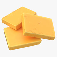 cheddar cheese pieces 3D
