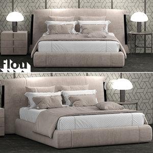 flou amal bed 3D