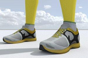 3D sneakers games pbr