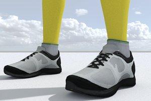 3D model sneakers games pbr