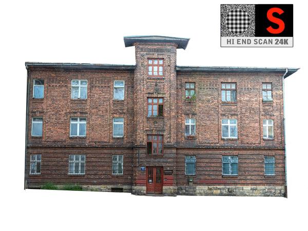 3D facade street abandoned