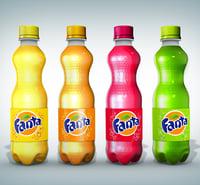 fanta bottles 3D model