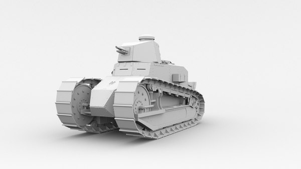 3D model renault ft-17 tank 1