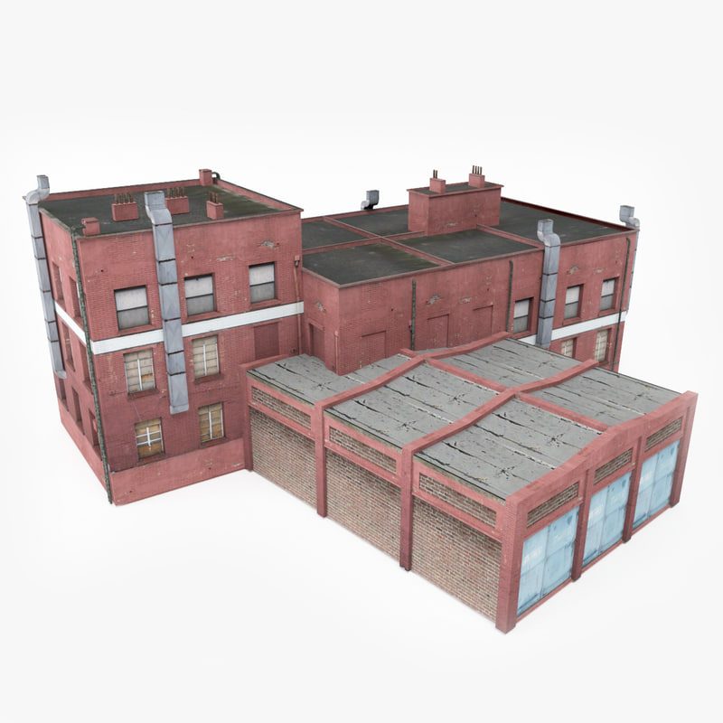 ready industrial building 3D model