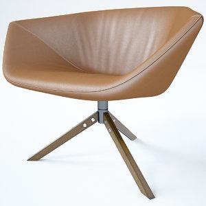 3D model elle armchairs niels
