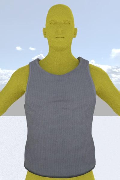 3D vest games pbr model