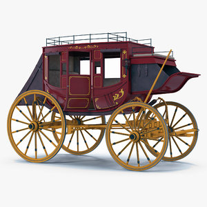 concord stagecoach rigged 3D model