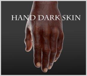 3D hand dark skin