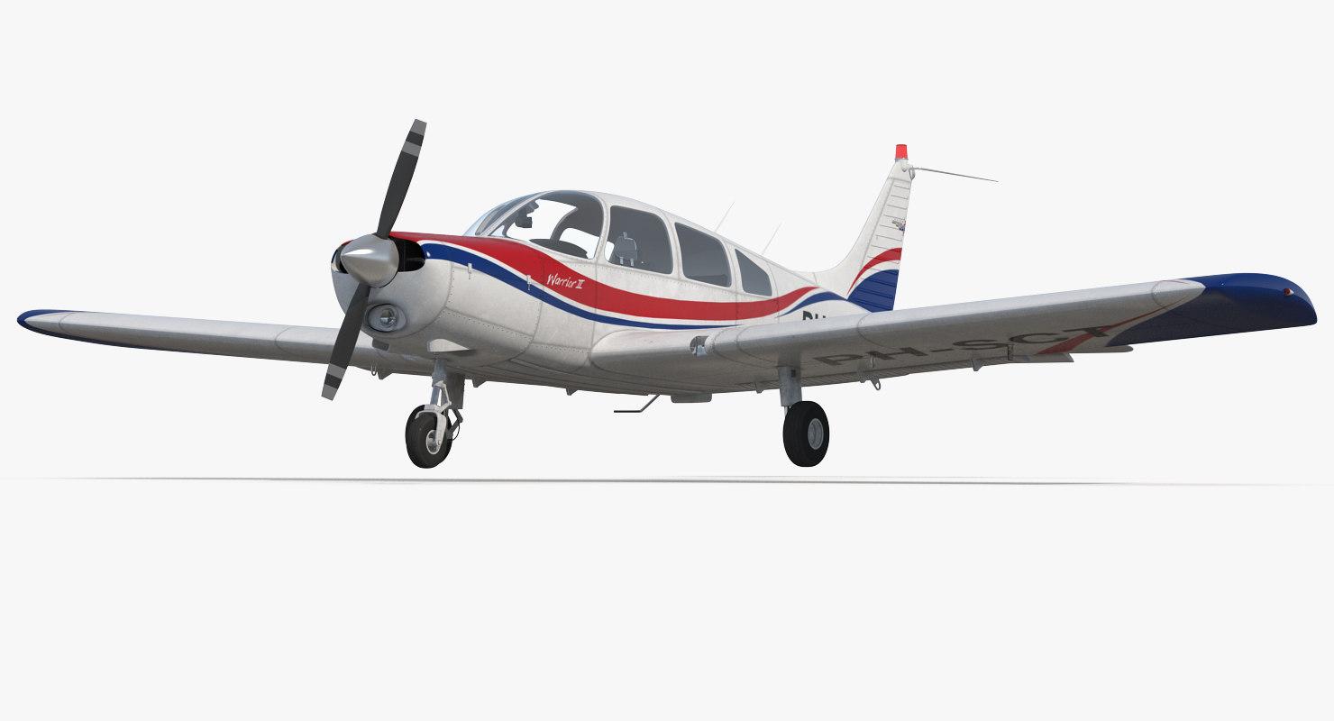 aircraft piper pa-28-161 warrior 3D model