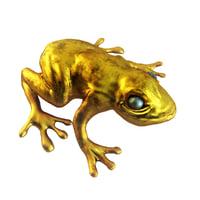 3D model golden frog
