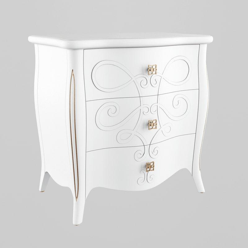 3D seven sedie nightstand