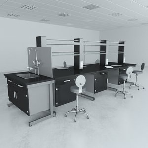 lab furniture typical set model