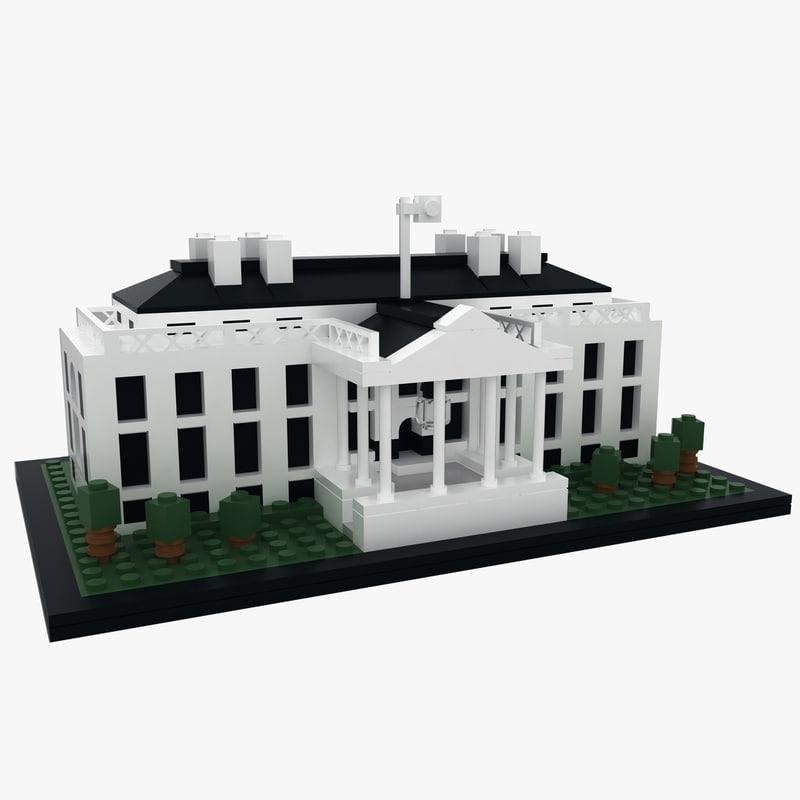 3D model lego white house