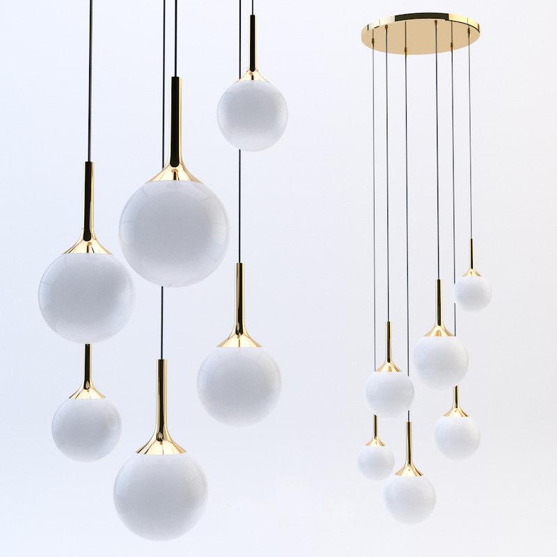 3D lightstar pendant light globo