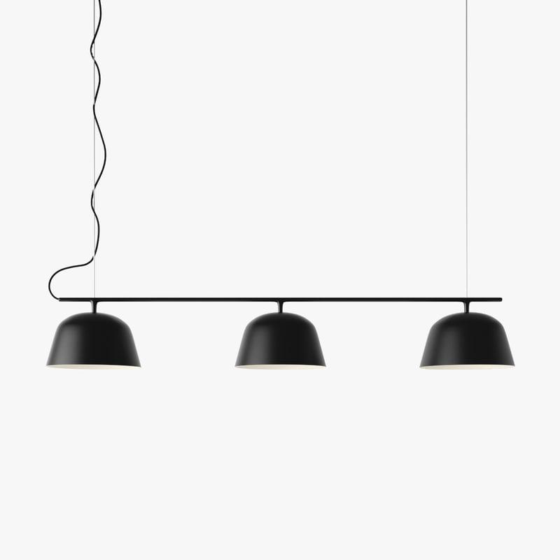 3D muuto ambit rail lamp model