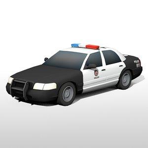 los angeles police car model