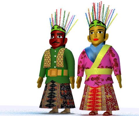 ondel-ondel puppet betawi 3D