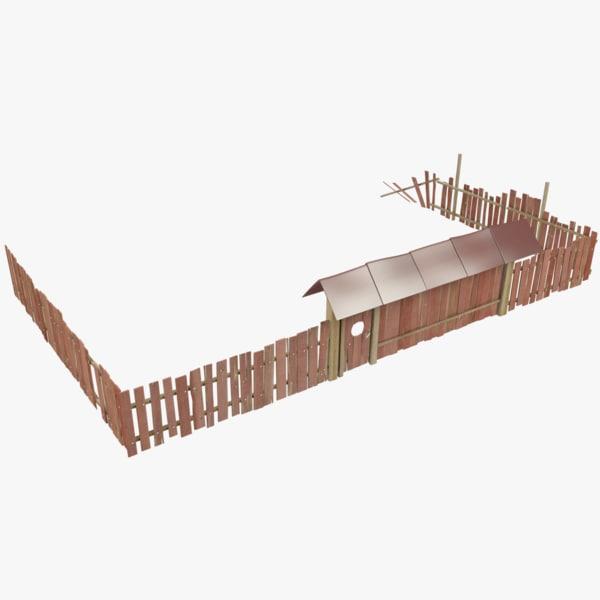 3D fence gate