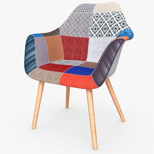 3D safdie occasional chair multicolor