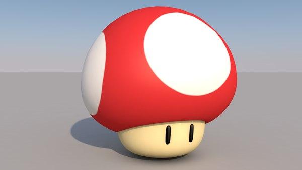 mushroom mario 3D model