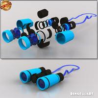 binoculars 3D model