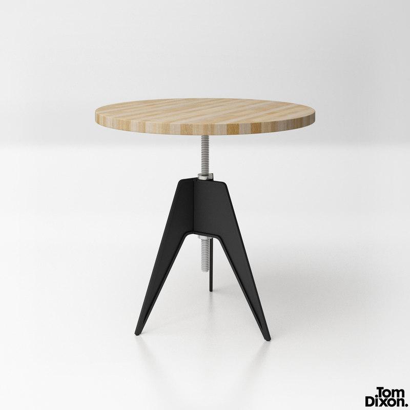 3d Model Tom Dixon Screw Table Turbosquid 1168151 # Muebles Tom Mobel