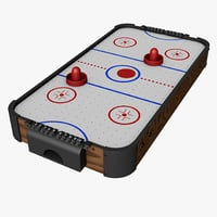 air hockey rink 3D