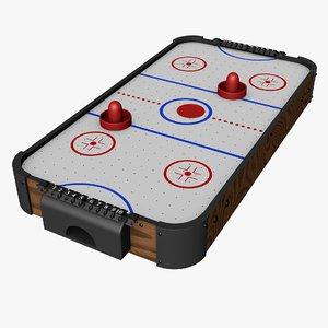 air hockey rink 3D