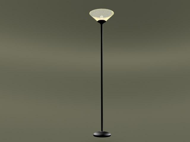 3D model torchiere lamp