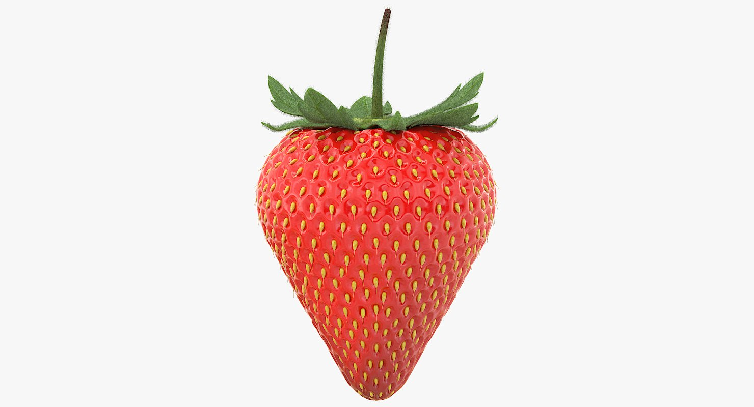 3D realistic strawberry 2