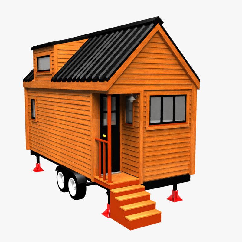 3D tiny house trailer