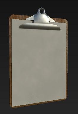 wooden clipboard 3D