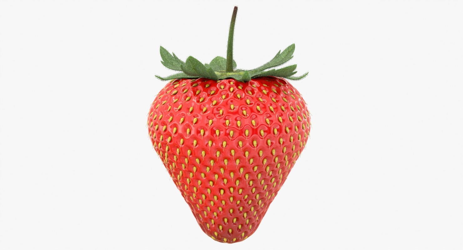 3D realistic strawberry