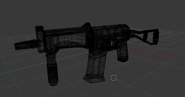 sr3m assault rifle 3D model
