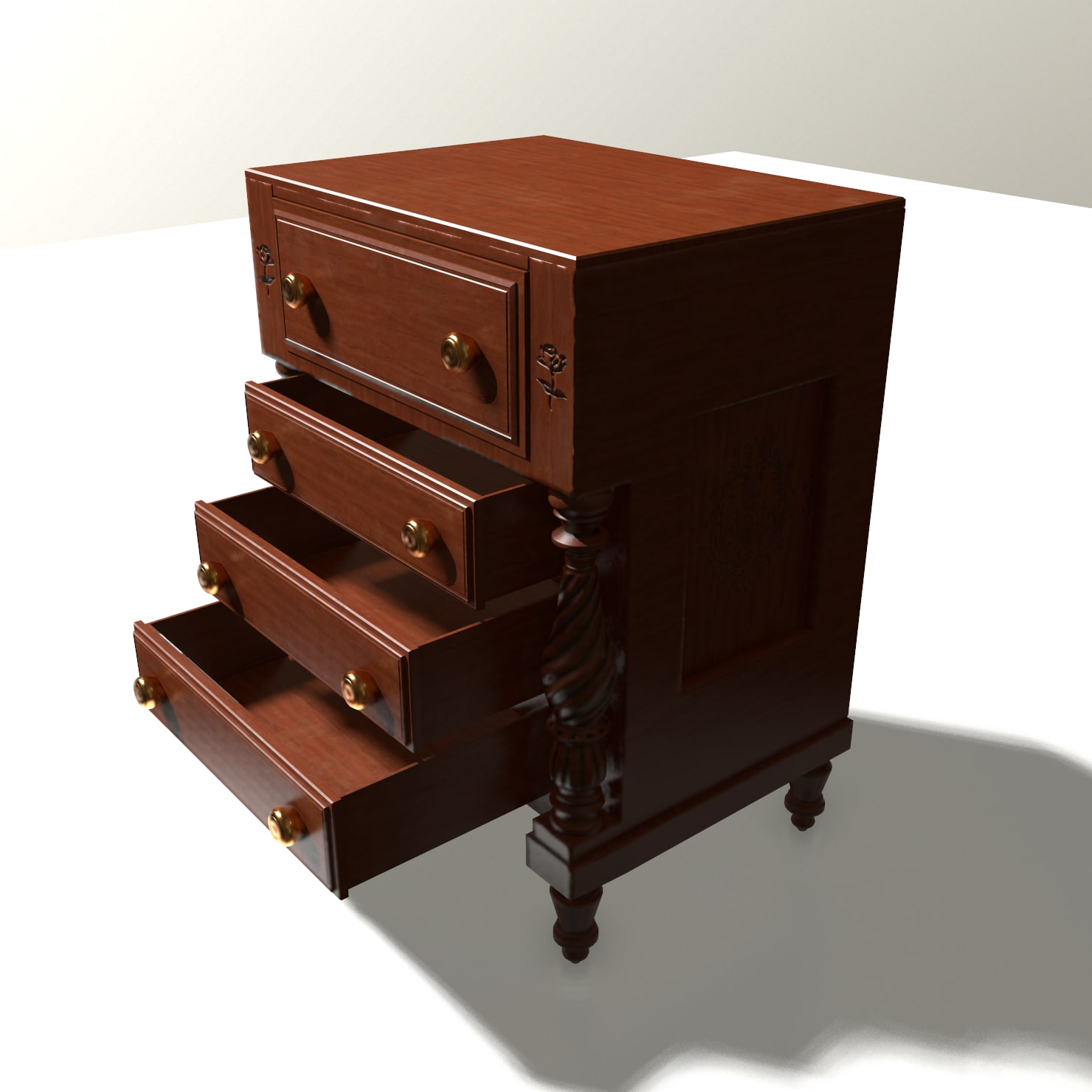 vintage chest 3D