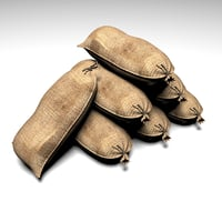 3D industrial burlap model
