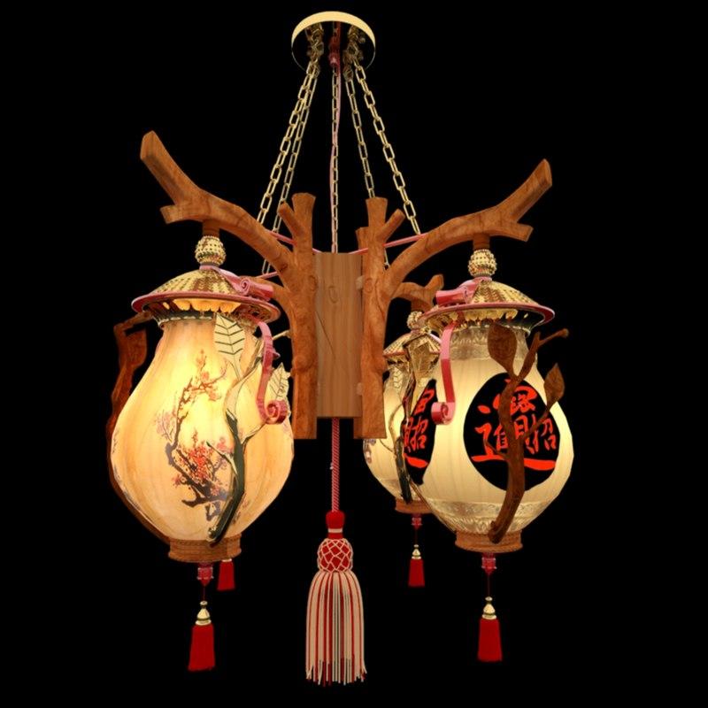 3D model chinese palace lanterne