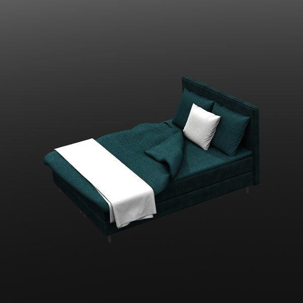 3D bed blue white