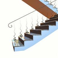 stair corona 3D model