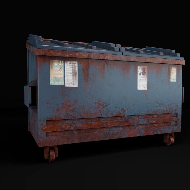 duster bin 3D model