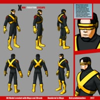 3D cyclops x-men evolution