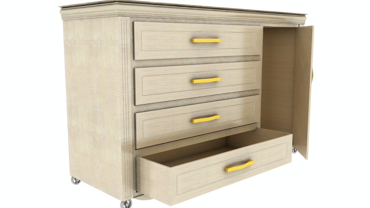 chest drawers bathroom model