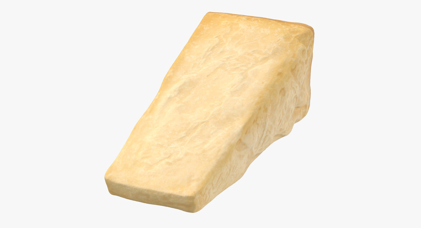 parmesan cheese piece 3D model