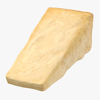 parmesan cheese piece 3D model